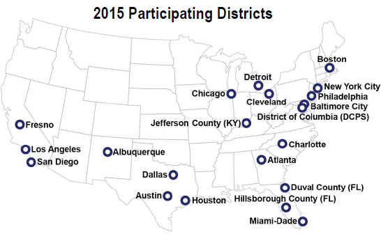 Districts participating in 2015 NAEP TUDA